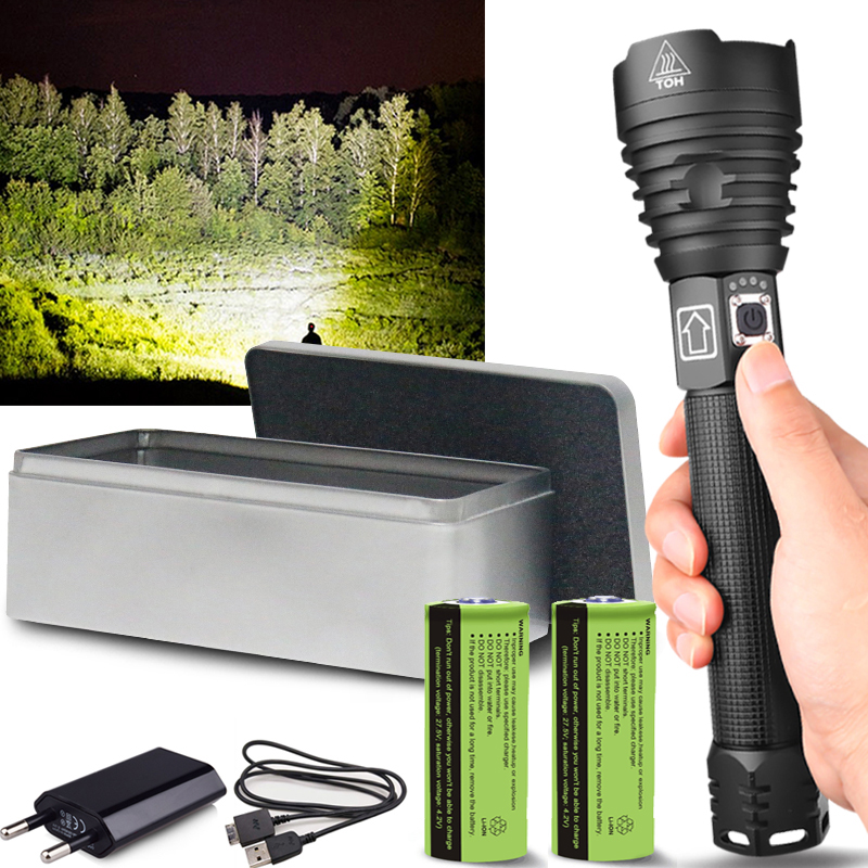 150000lumens XHP90.2 Most Powerful Led Flashlight Usb Zoom Tactical Torch Xhp70.2 18650 Or 26650 Rechargeable Battery Hand Light
