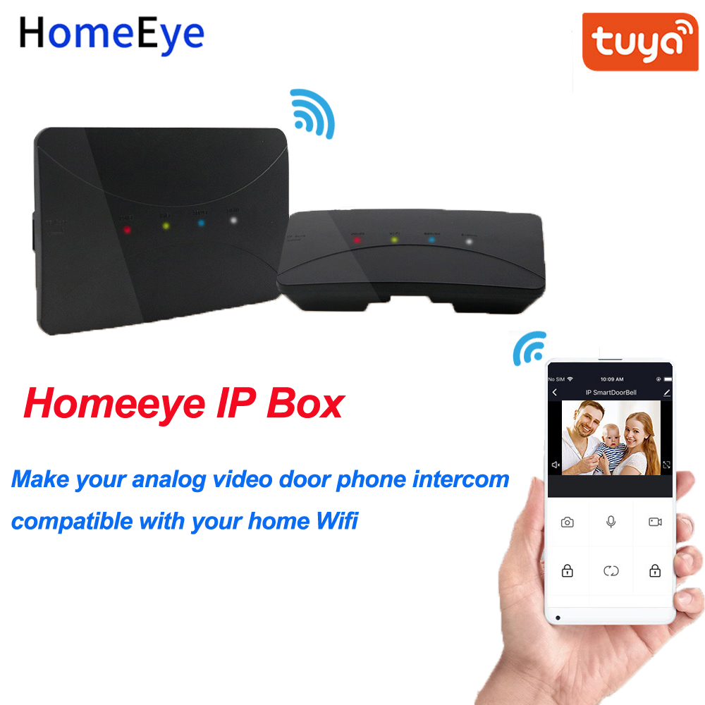 Wifi Converter IP Box IP Converter 4-Wired Analog Signal Video Door Phone To IP Wifi Video Intercom System TuyaSmart App Support