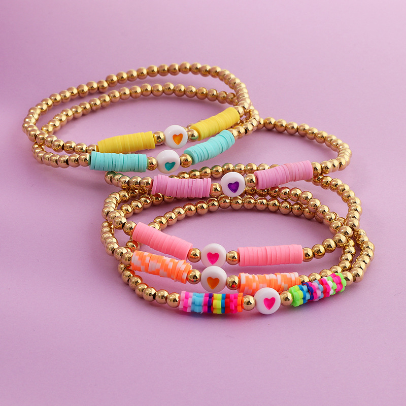 New Romantic Bracelets For Women Friendship Bracelet Rainbow Jewelry Pulseiras Mujer 2020 LOVE Heart Beaded Bracelet Boho Summer