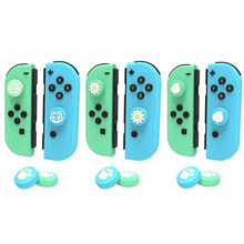 Animal Crossing Cat Paw Bear Leaf Flower Thumb Stick Grip Cap Joystick Cover For Nintend Switch NS Lite Joy con Controller Case