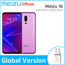 Meizu 16 6GB 64GB Global Version Smartphone Snapdragon 710 Octa Core Mobile Phone Front 20MP 3100mAh In-Screen Fingerprint(China)