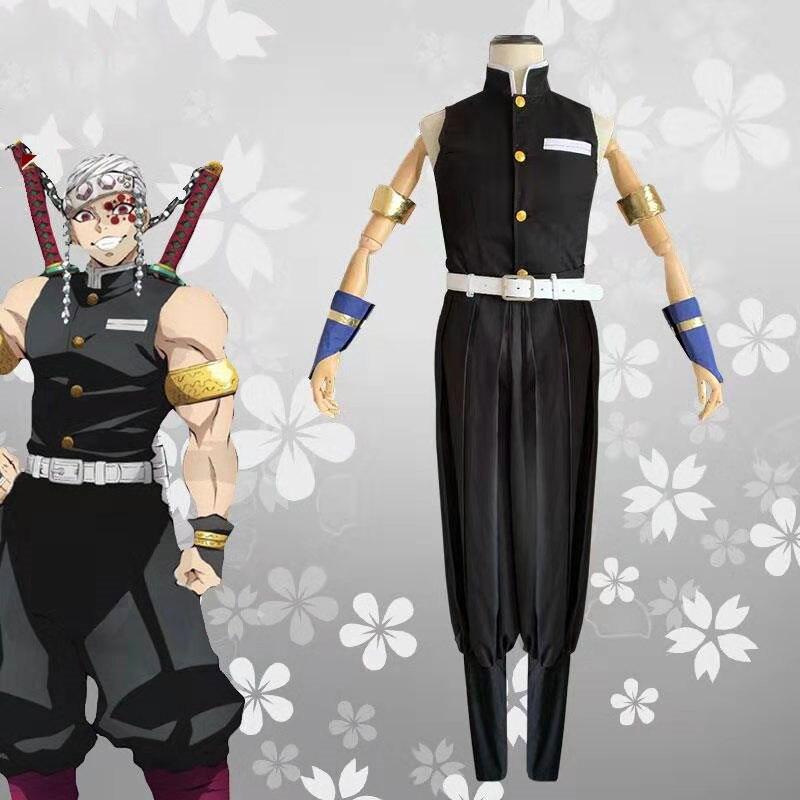 Anime démon tueur Uzui Tengen Cosplay Costume Kimetsu No Yaiba Kisatsutai Cos adulte vêtements Costume