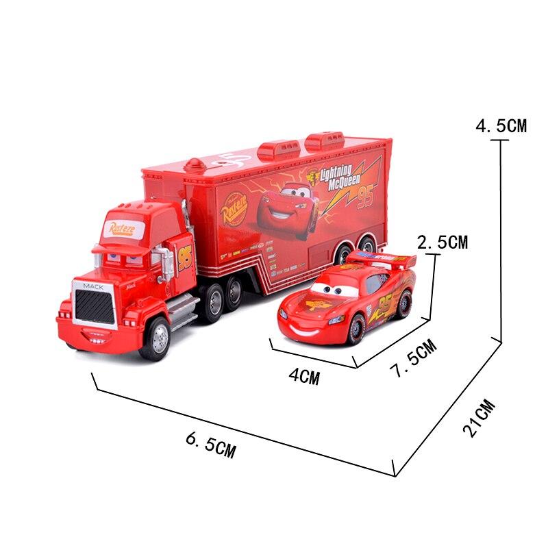 Disney Pixar тачки 3 2 игрушки Молния Маккуин Джексон шторм Круз Мак дядюшка грузовик 1:55 литья под давлением модель автомобиля игрушка ребенок под...