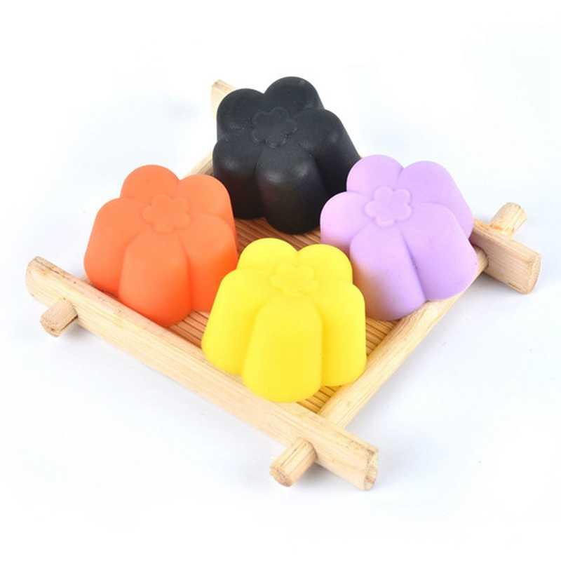 1 قطعة قالب الكعكة زهرة كب كيك بطانة أدوات قولبة شكل الاستنسل المعجنات الشوكولاته الكعك الخبز سيليكون البسكويت المطبخ لون عشوائي