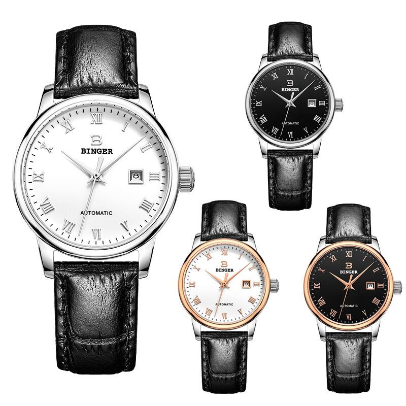 Genuine BINGER5005L beloved Series mechanical WOMEN Couples watch classical Simple and generous business fashion crystal