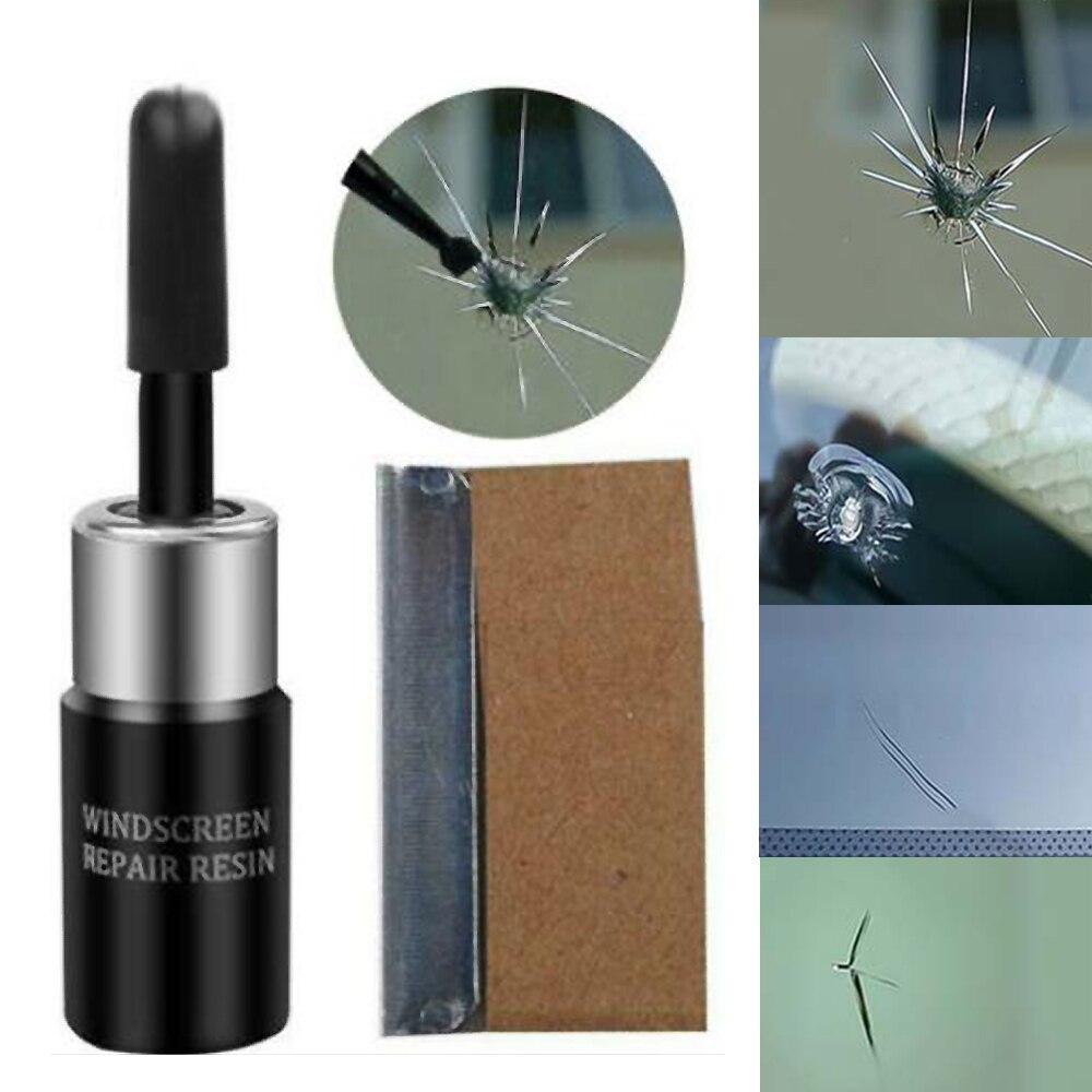 Automotive Glass Nano Repair Fluid Broken Glass Nano Repair Tool Set Black/ White Magic Windshield Repair Tool Kit 3