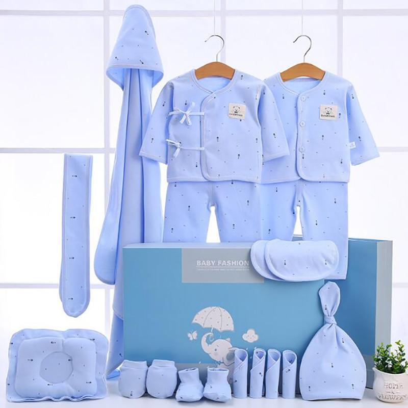 Newborn Clothing Suits 18 Pcs/set Baby Toddler Cotton Set For Girls Boys Pink Blue Yellow