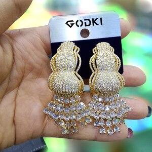 Image 3 - Godki 트렌디 커튼 tassels 여성 귀걸이에 대한 아프리카 귀걸이 기하학 드롭 귀걸이 2020 brincos 여성 diy 패션 쥬얼리