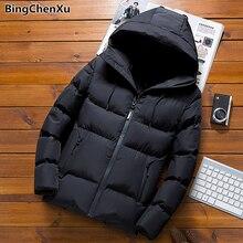 Men's Parkas 2019 Winter Men Hooded Parka Jacket Casual Thic