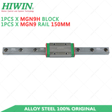 original alloy steel HIWIN MGN9 150mm linear guide rail with MGN9H slider block for 3d printer kit