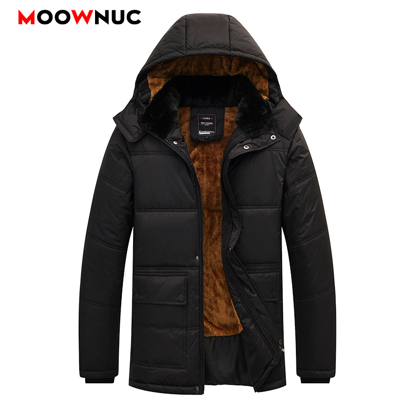 Windbreaker Winter Fashion Parkas Hombre Coats Warm Business Casual Overcoat Jackets Thick Windproof Men's Parkas Fit Brand New