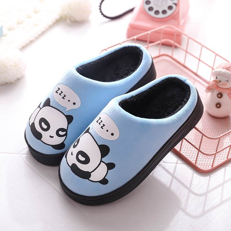 2019 Winter Children Slippers For Girls Cartoon Panda Home Shoes Boys Non-slip Warm Indoor Bedroom Floor Shoes Kids Flip Flops