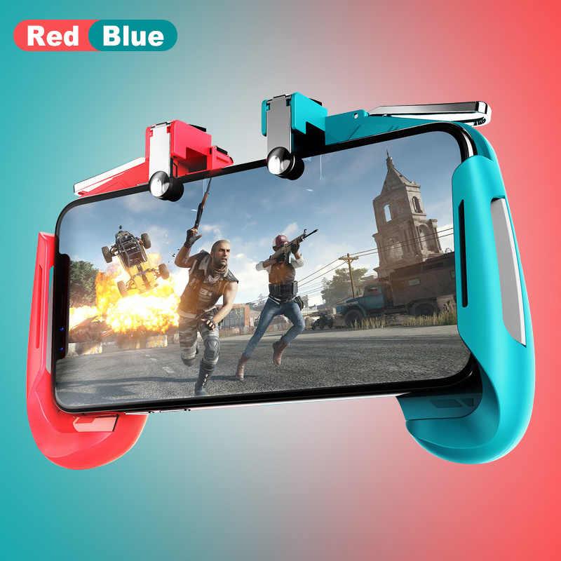 Красочный игровой джойстик AK16, геймпад, кнопка запуска, стрелок L1R1, растягивающийся игровой контроллер PUBG для IOS Android телефона