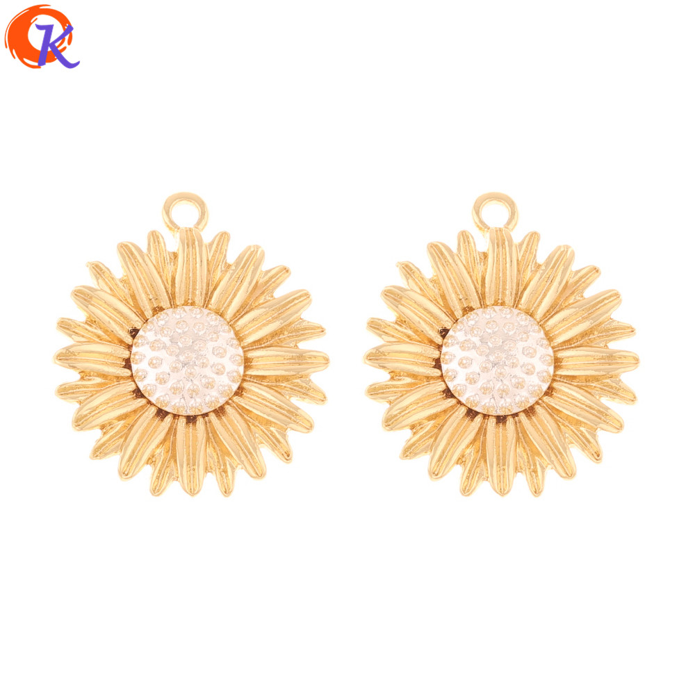 Cordial Design 50Pcs 24*28MM Jewelry Accessories/Earrings Connectors/DIY Making/Earring Findings/Hand Made/Flower Shape/Charms