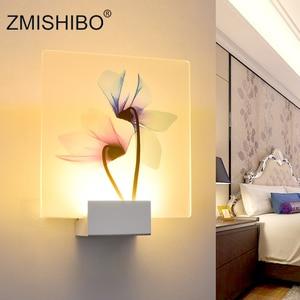 Image 4 - ZMISHIBO الحديثة رومانسية الجدار مصباح السرير الديكور الشمعدان الشمال المنزل LED الإضاءة يمكن التحكم عن بعد تركيبات الإضاءة