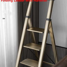 Folding Ladder Multifunctional Aluminium-Alloy Portable Four-Steps Household with Handrail