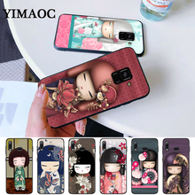 kawaii Japanese Kokeshi Doll Silicone Case for Samsung A3 A5 A10S A30S A50S A6 Plus 2018 A7 A8 A9 A10 A30 A40 A50 A60 A70 J6