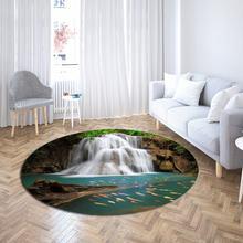 Современный всесезонный коврик с пейзажем для гостиной/журнального