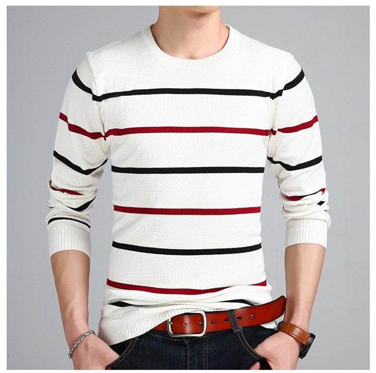Sweater Men Casual O-Neck Pullover Men Autumn Slim Fit Long Sleeve Shirt Mens Sweaters Knitted Cashmere Wool Pull Homme