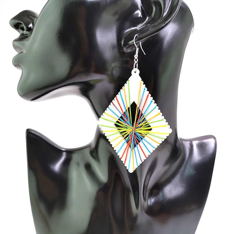 YD & YDBZ новые цветные линии Висячие серьги женские готические ювелирные изделия этнические деревянные серьги набор 6 стилей ювелирные изделия оптом подарок для дам