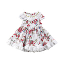 Toddler Kids Baby Girl Floral Dress Party Pageant Wedding princess Bridesmaid Birthday Prom Dresses Sundress цена 2017