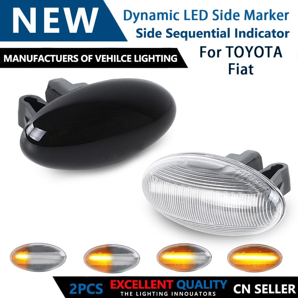 2 шт. для Peugeot Partner 407 307 Toyota Aygo Fiat Scudo, Динамический светодиодный поворотный сигнал, боковые габаритные огни, последовательная лампа указателя ...