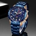 LIGE 2020, часы креативного дизайна, мужские Роскошные Кварцевые наручные часы с хронографом из нержавеющей стали, спортивные часы, мужские час...