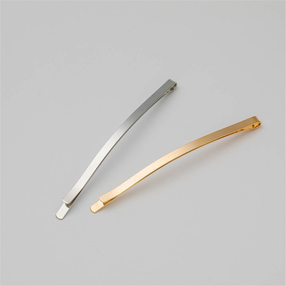1/5/10pcs Metal DIY Snap Hair Clips Gold Silver Girls Hairpins Claw Barrettes For Women Adult Hair Hairgrips Hair Accessories