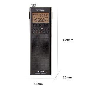 Image 5 - Tecsun PL 360 Полнодиапазонный FM/MW/LW/SW цифровая Демодуляция Карманный стерео ручной полупроводниковый зарядный радиоприемник для пожилых людей
