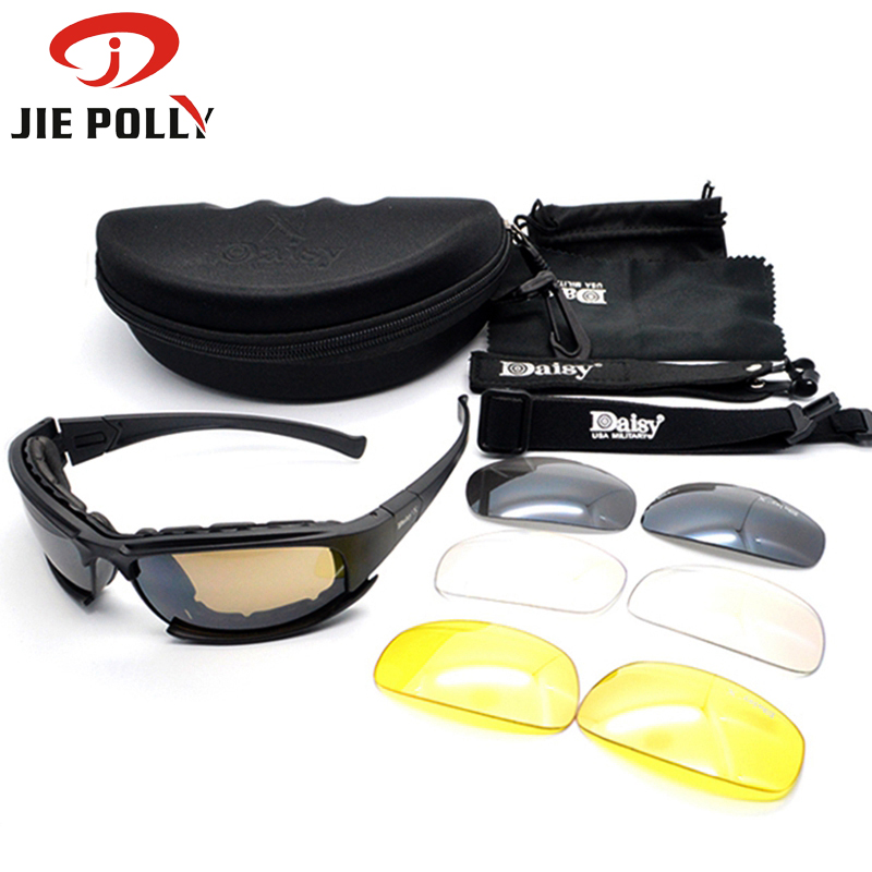X7 C5 Sport Polarized Glasses Military Airsoft Goggles Army Shooting Glasses Tactical Army Goggles 4LS Motorcycle Glasses
