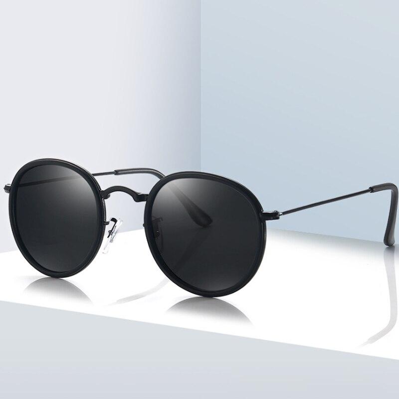New Round Polarized Sunglasses Men Women Fashion Brand Design Sun Glasses  UV400 Shades Retro Eyewear Oculos De Sol
