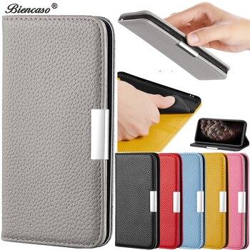 Перейти на Алиэкспресс и купить Чехол-книжка личи для iPhone 11 Pro max, чехол для iPhone 11 XS Max Xr X 10 8 7 Plus 6 6s Plus SE 2020, чехол для телефона с отделением для карт