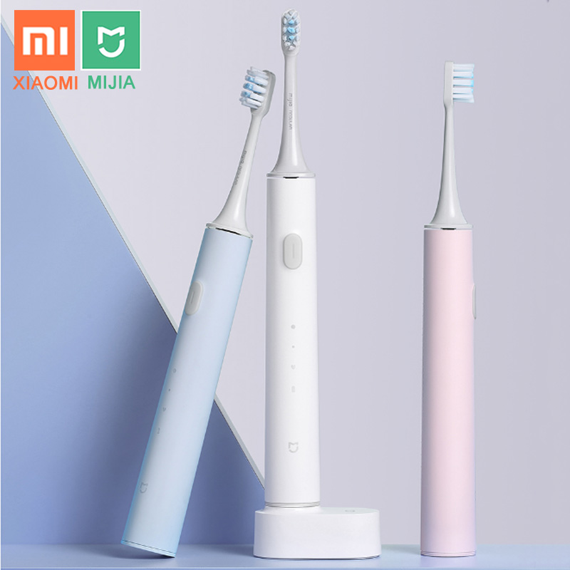 XIAOMI MIJIA T500 T300 Electric Toothbrush Smart Sonic Brush Ultrasonic Whitening Teeth Vibrator Wireless Oral Hygiene Cleaner