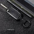 Carbon Car Key Case For Volkswagen VW Golf 4 5 6 Bora Jetta Polo Passat b5 b6 Skoda Superb Octavia Fabia Seat Cover Protector