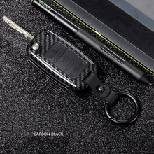 Carbon Car Key Case For Volkswagen VW Golf 4 5 6 Bora Jetta Polo Passat b5 b6 Skoda Superb Octavia Fabia Seat Cover Protector