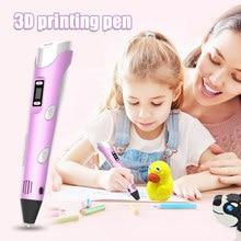 Digitale Display Intelligente 3D Printing Pen Diy 3D Graffiti Schilderen Pennen Met Usb Kabel H-Best