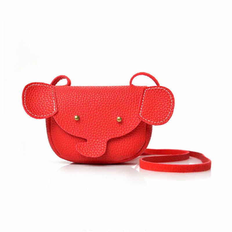 Nueva moda Kawaii unisex baby bags caricatura niñas niños mensajero bolsos de hombro animal moneda con elefante bolsos para niños