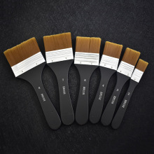 Нейлон волос щетка с деревянной ручкой, акварельные кисточки, Краски щетка для обучения Diy масляная Акриловая картина арт Краски кисти расходные материалы