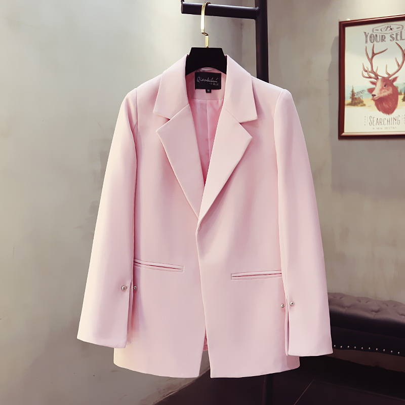 2020 Korean New Women's Suit Casual Jacket Spring and Autumn High Quality Elegant Office Pink Lady Blazer Female Small suit