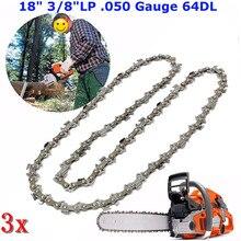 3pcs18 inch Chainsaw Saw Chain Blade 45cm Chain Replament Chainsaw For 3/8
