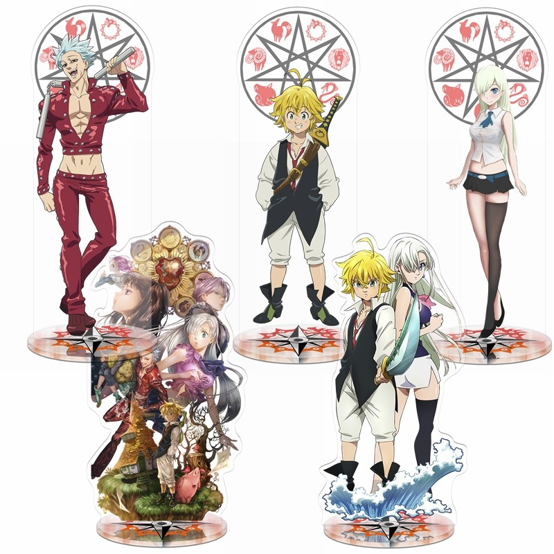 Wrath of The Gods Meliodas Elizabeth Bedge Badge 8pcs The Seven Deadly Sins