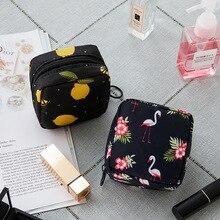Тампон сумка для хранения гигиенических подушечек женские салфетки сумка-Органайзер для косметики женская косметичка для девушек тампон держатель Органайзер