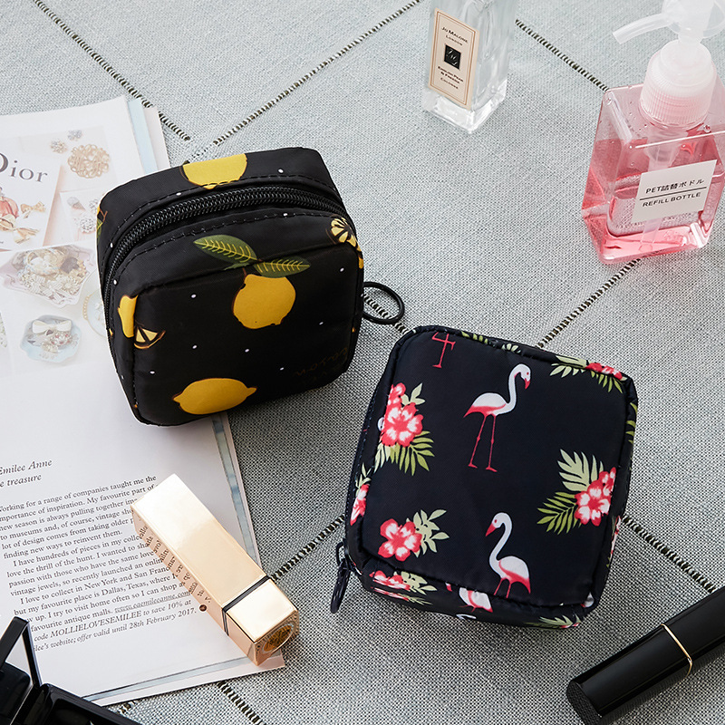 Tampon sac de rangement serviette hygiénique pochette femmes serviette sacs à cosmétiques organisateur dames sac de maquillage filles porte-Tampon organisateur