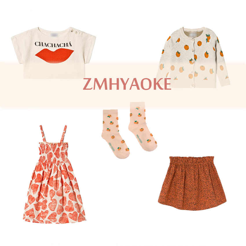 Pre-sale ZMHYAOKE-Bobo Ch* NEW 2020 Summer Baby Girls Clothes Children's Sets Fashion Beach Christmas Boutique Kids Boys Clothes