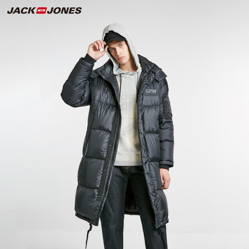 JackJones Men's Winter Hooded Long Down Jacket Parka Coat Outerwear Menswear 218412550