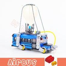 Мини конструктор с воздушным автобусом подвижные строительные