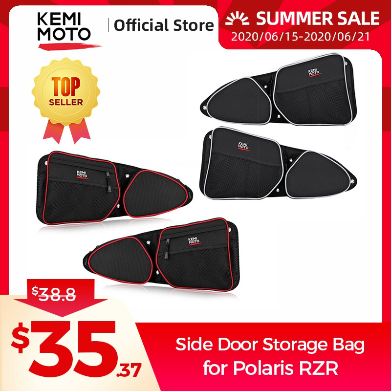 KEMIMOTO RZR 1000 Door Bags Driver and Passenger Side Front Upper Storage Bag with Knee Protection