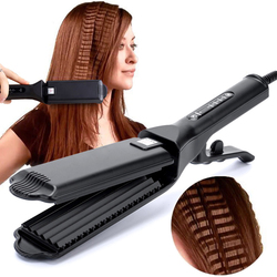 Professional Hair Crimper Curling Iron Wand Ceramic Corrugated Wave Corn Irons Wave Curler Iron Electric Corrugation Plate Clip