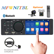 Tela de toque Autoradio 1 Din Bluetooth USB SD Aux FM mp5 Player Multimídia Rádio Do Carro de Áudio Estéreo Com Volante controle