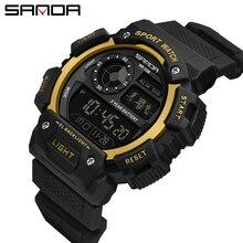 Waterproof Digital Watch Men's Sport Watches Electronic LED Male Wrist Watch For Men Clock SANDA Brand Military Army Wristwatch